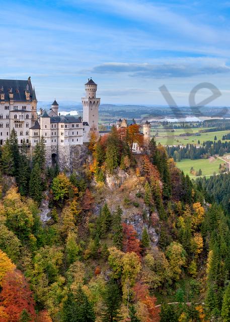 Print Art Neuschwanstein Castle Schwangau Germany Bavarian palace