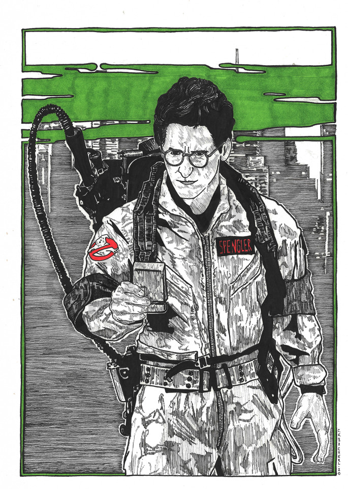 Egon Spengler of the Ghostbusters