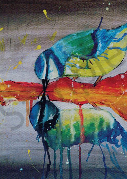 """""""Drink Up Birdie"""" by UK Artist Rachel Oxborough   Prophetics Gallery"""