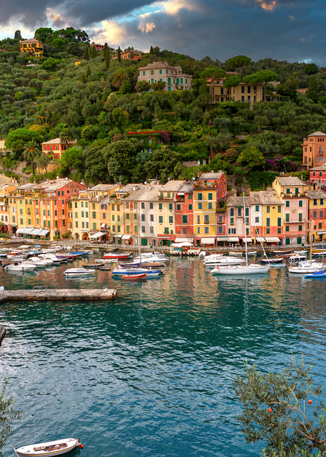 Print Art Portofino, Italy Higher View
