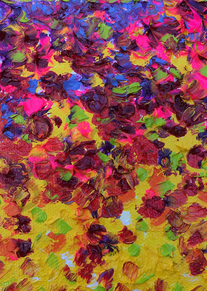 Close up view of a Zinnia Flower Petal From the Eyes of a Painter