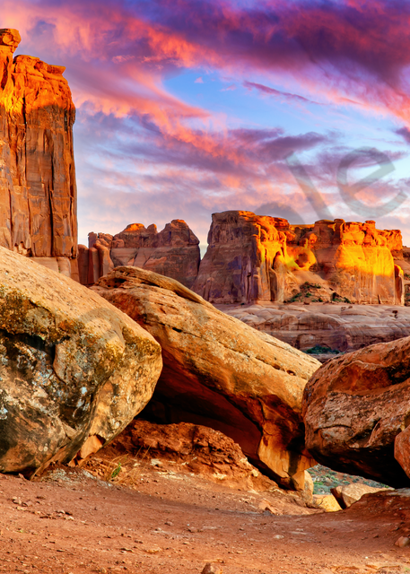 Art Print Arches National Park Utah Courthouse Towers