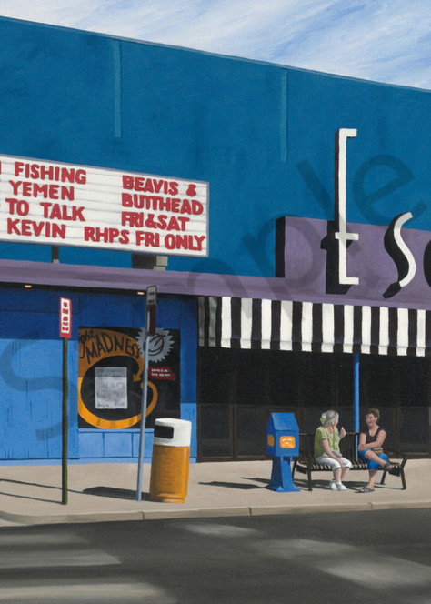 Afternoon at the Esquire | Oil Painting | Fine Art Prints