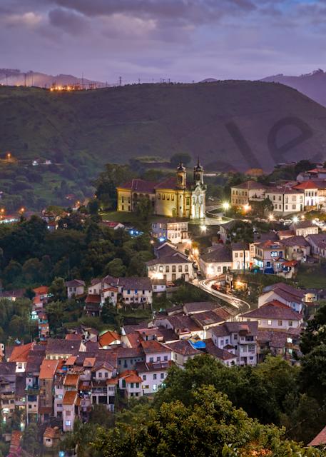 Print Art Ouro Preto Brazil Black Gold