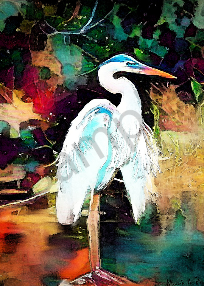 """Blue Heron"" by Indiana Digital Artist Mark Rouse | Prophetics Gallery"