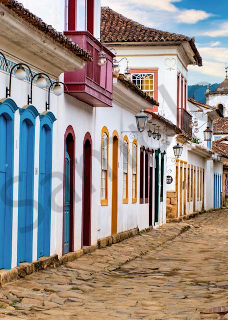 Print Art Paraty Brazil Colonial Street