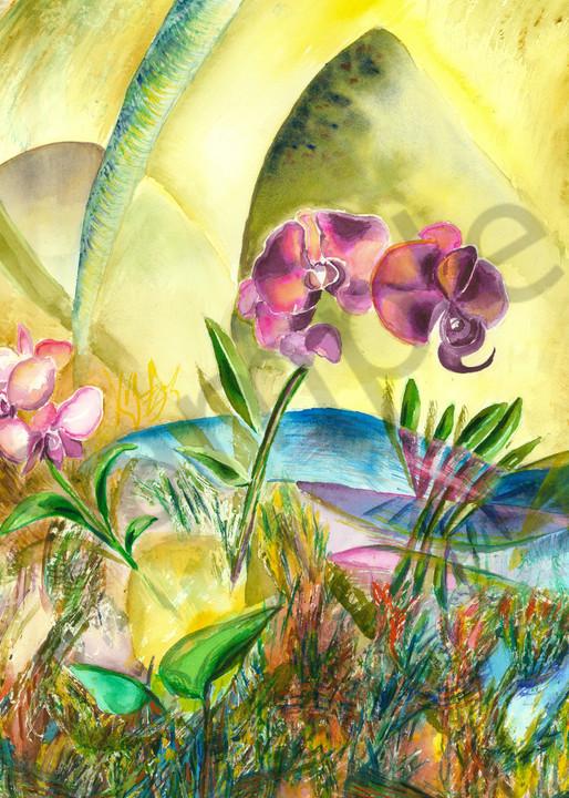 Orchid Brightness Art   Marisela Bracho