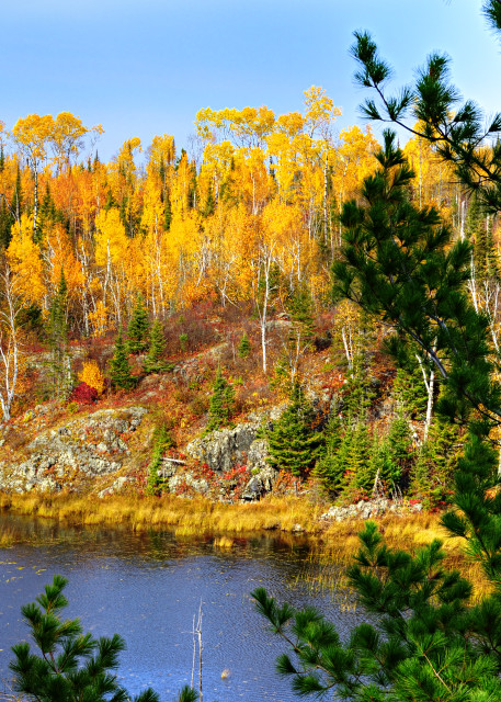 Rookie Pond In The Autumn Photography Art   LHR Images
