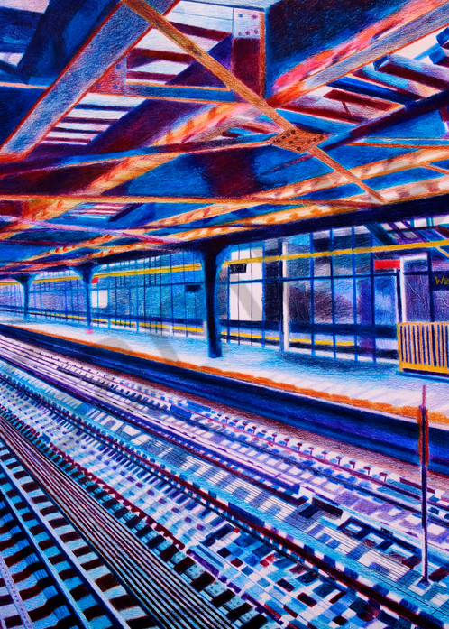 A BROOKLYN PERSPECTIVE VIEW FROM A STATION