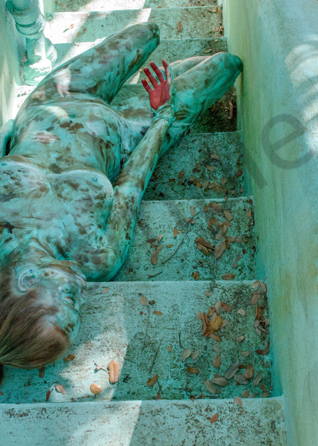 2017  Turquoise Stairs  Florida Art   BODYPAINTOGRAPHY