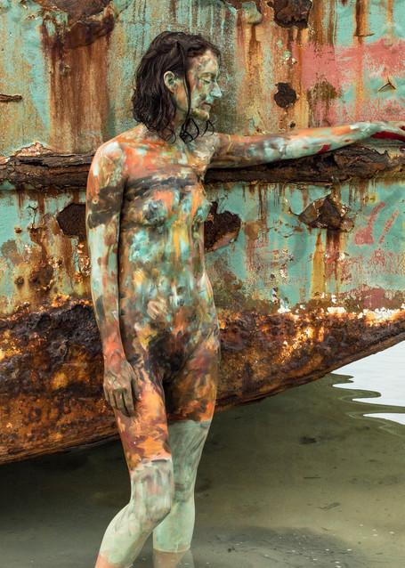 2017  Shipwreck  Bahamas Art   BODYPAINTOGRAPHY