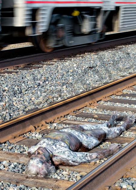 2015 Amtrak.Railroad California Art | BODYPAINTOGRAPHY