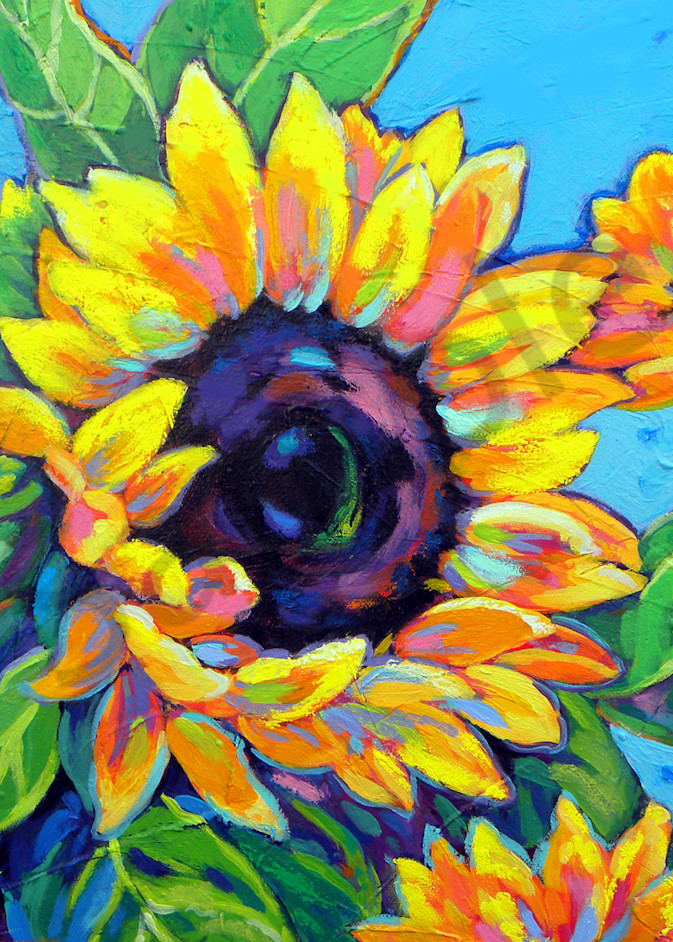 Sunflowers Dance In Blue