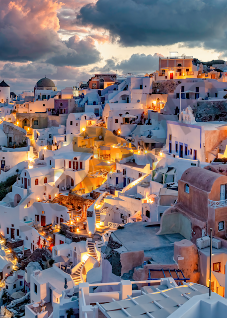 Print Art Oia Santorini Greece Morning Lighting