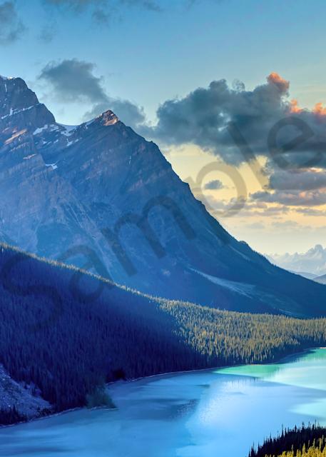 Print Art Banff National Park Alberta Canada Canadian Rockies and Glacier Lakes