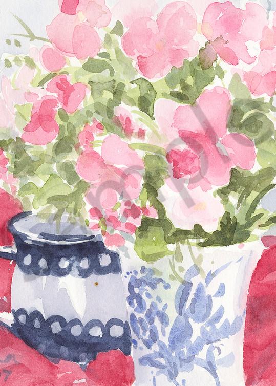 Posies For Tea Art | Nancy Reyna Fine Art