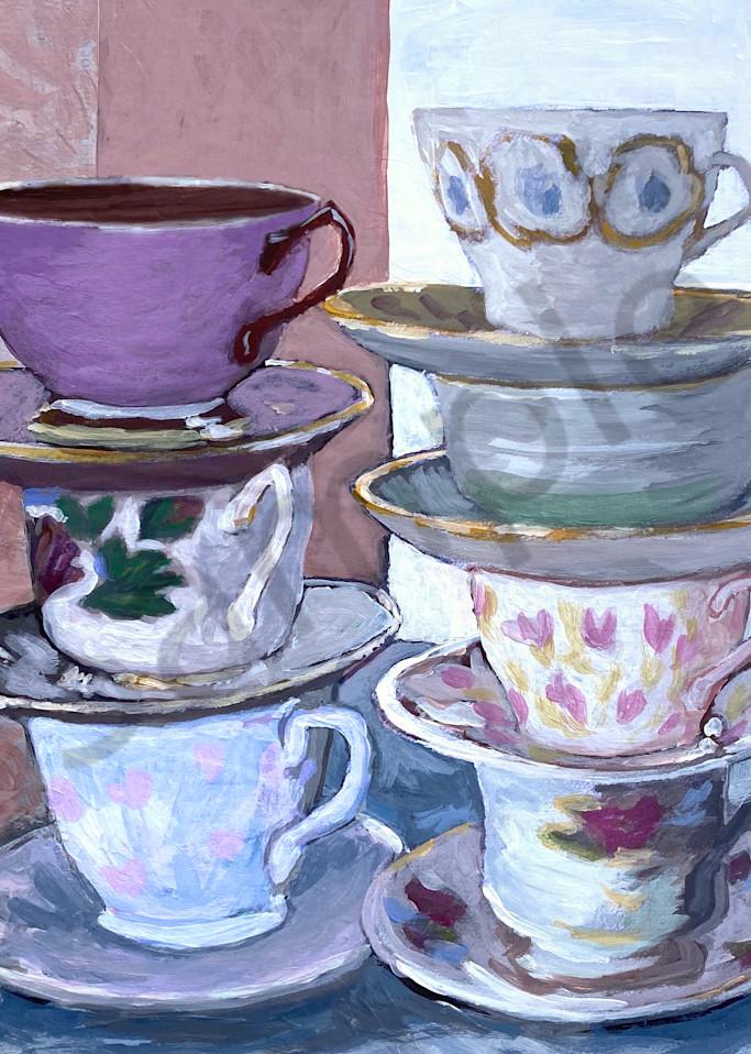 Teacups Ii Art   smalljoysstudio