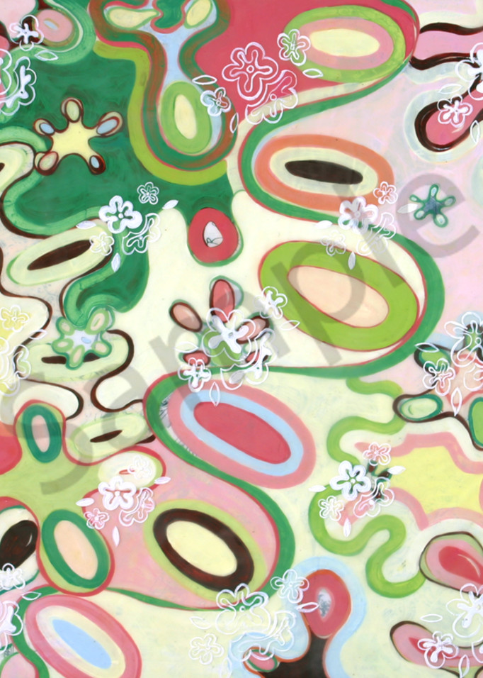 """""""Spring Puff"""" painting by artist Cynthia Mosser"""