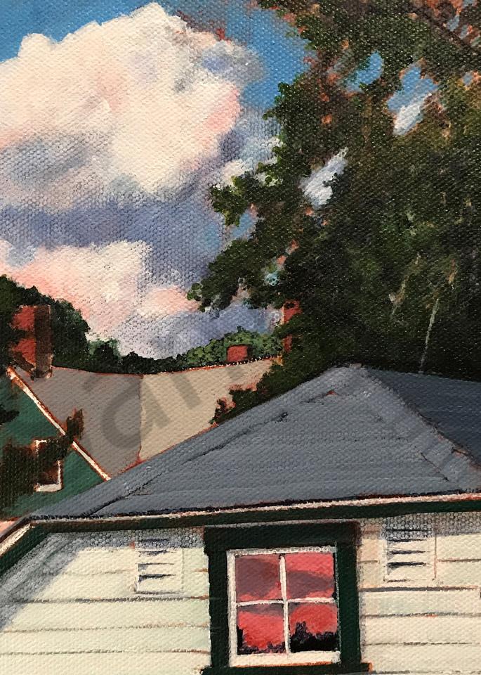 Sunset on Grove Street