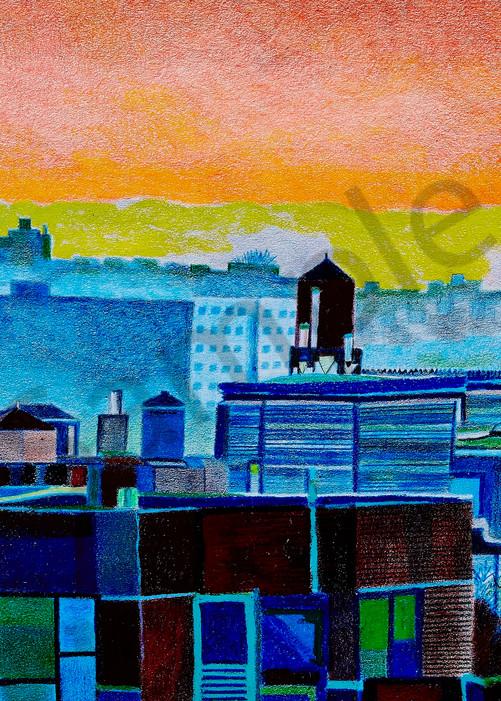 Manhattan Westside Water Towers Art | lencicio