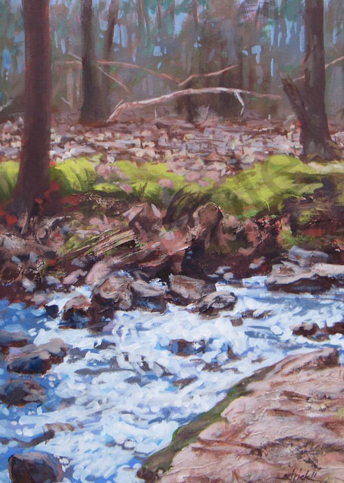 Laughing Stream In Winter Art   Strickly Art