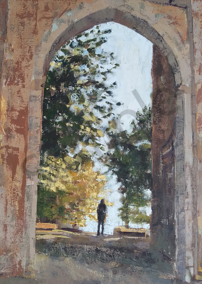 Over And Through Medieval Archway Print Art | Michelle Arnold Paine Fine Art