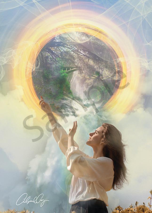 """From Heaven To Earth"" by Pennsylvania Digital Prophetic Artist Abigail Cruz | Prophetics Gallery"