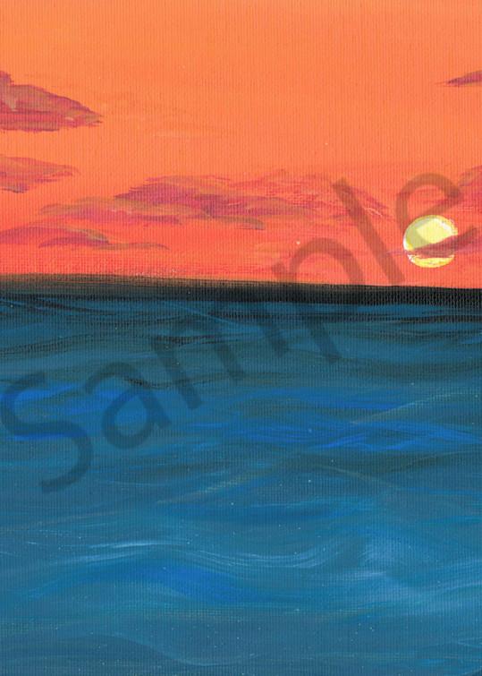 Simple Sunset Art Prints