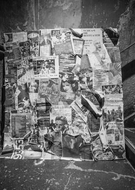 9:30 Club Wall Of Fliers   Frozen Photography Art | Insomnigraphic