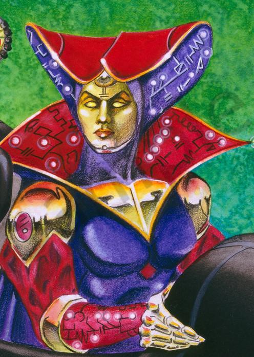 Cyber Mage Art | Melissa A Benson Illustration