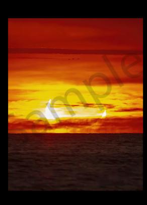 Soloar Eclipse Triptych Photography Art   RAndrews Photos
