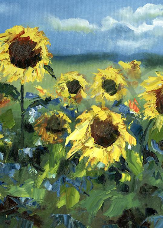 """Sunflowers In The Wind"" by Russian Prophetic Artist Elena Shipunova   Prophetics Gallery"