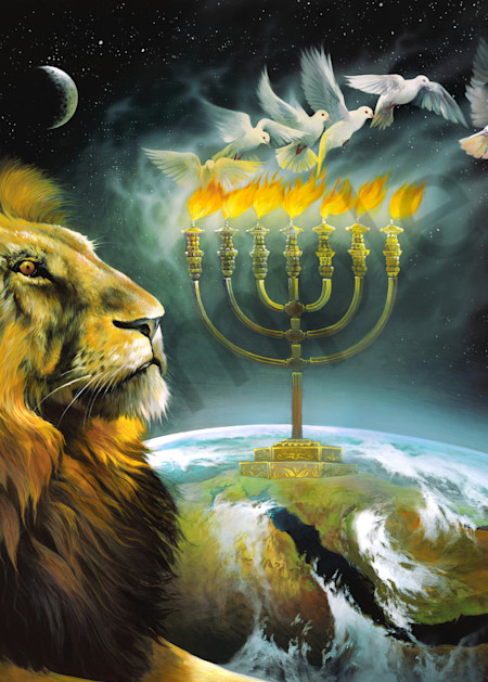 """Arise Shine - Menorah"" by Tennessee Prophetic Artist Spencer Williams   Prophetics Gallery"