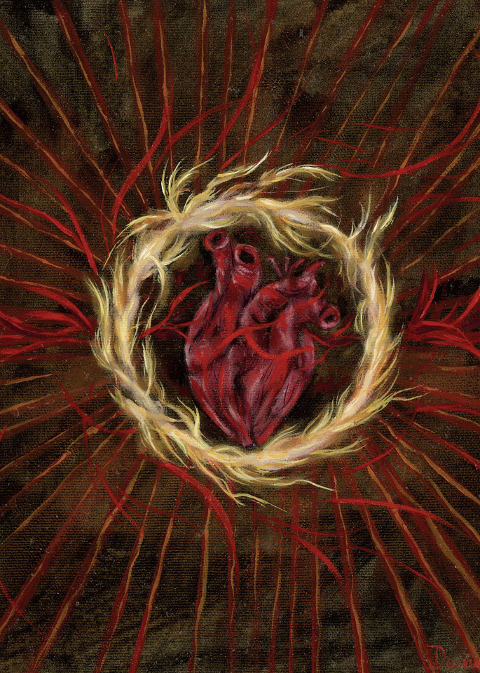 """Healing Heart"" by Canadian Prophetic Artist Danielle Ortega | Prophetics Gallery"