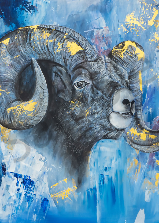 The Ram With His Shofar Horn by Angela Günther