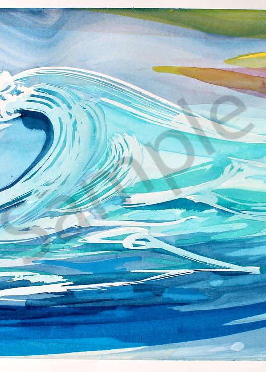 Great Wave | Abstract Watercolors | Gordon Meggison IV