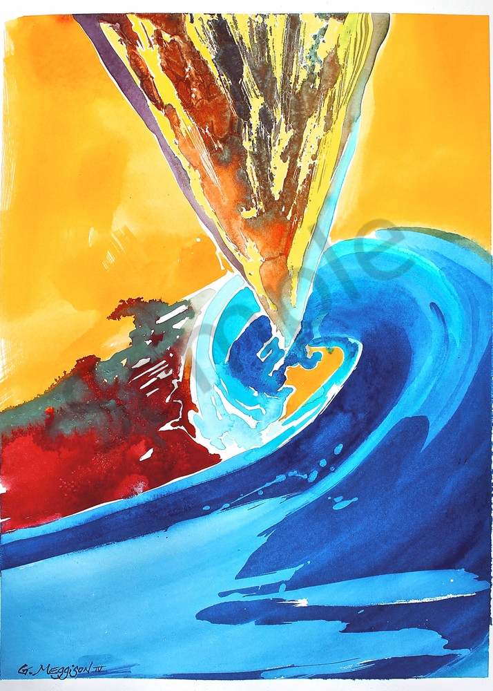 Spiral Color Field | Abstract Watercolors | Gordon Meggison IV