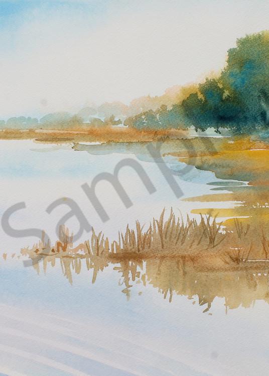 Morning Light on the Marsh 2 | Watercolor Landscapes | Gordon Meggison IV