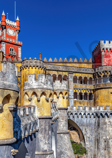 Moorish- and Manueline-style Sintra National Palace, Pena National Palace, Portuguese Riviera, Castle, Portugal