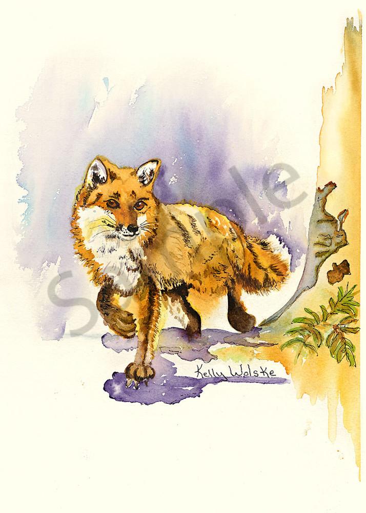 """""""Handsome Fox"""" fine art print by Kelly Wolske."""