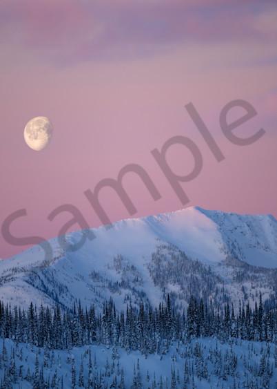 Ymir Moonset Photography Art | Kokanee Camera and Nelson Fine Art Printing