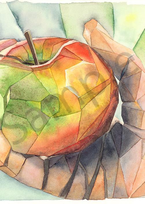"""Apple In Hand"" fine art print by Matthew Campbell."