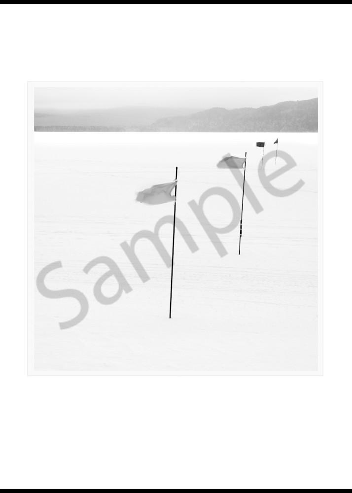 Race Flags On Frozen Lake Art | Roy Fraser Photographer
