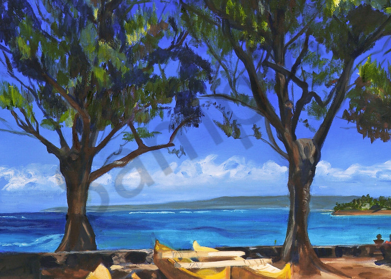 Nature Art | Outrigger on Beach by Carlisle