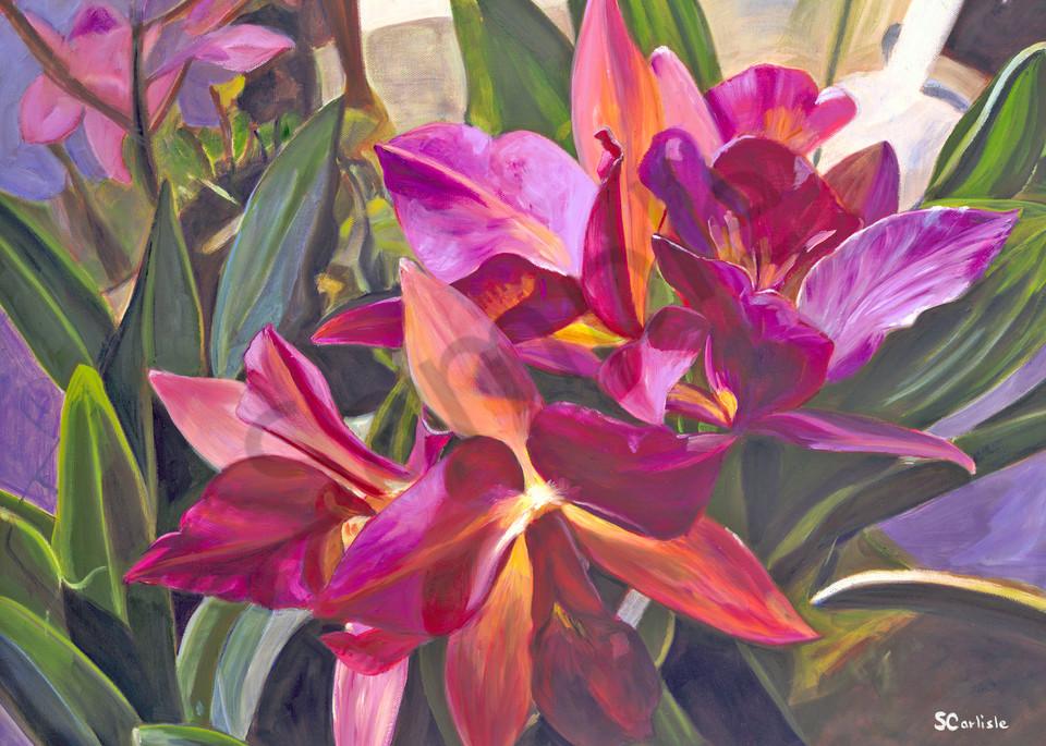 Nature Art | Purple Orchids by Carlisle