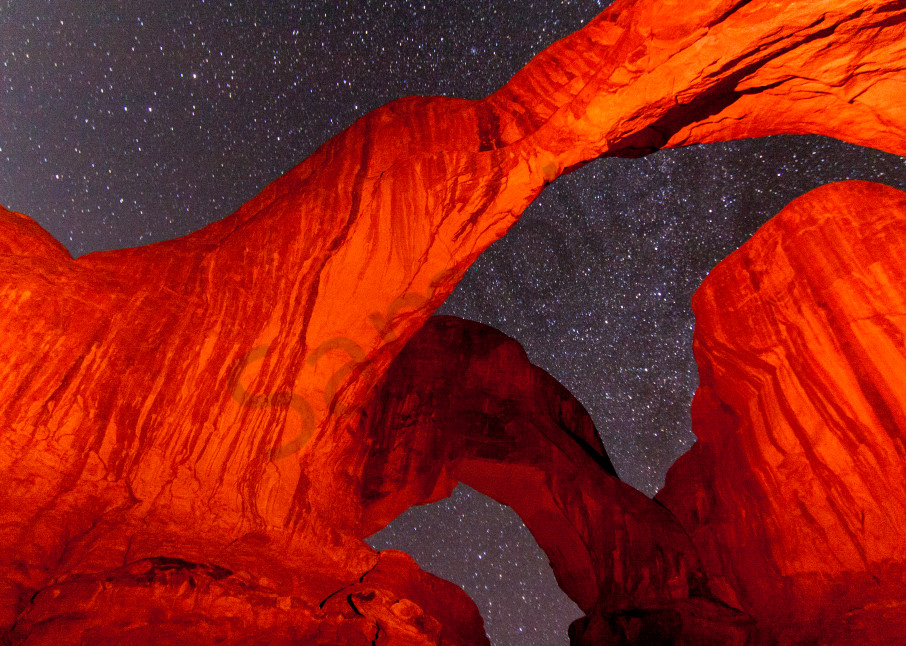 Stars over Arches National Park
