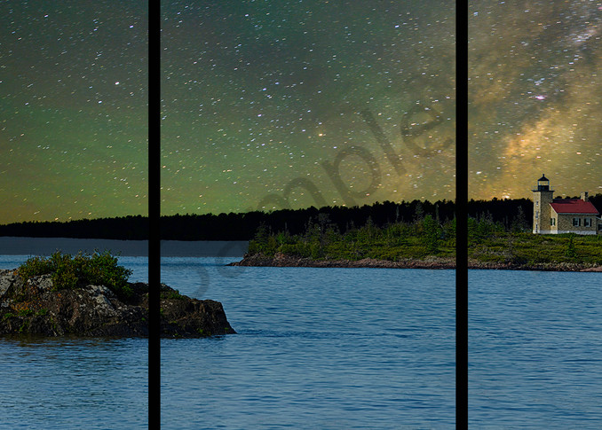 Copper Harbor And The Milky Way   Trip Tych Photography Art | Robert Jones Photography