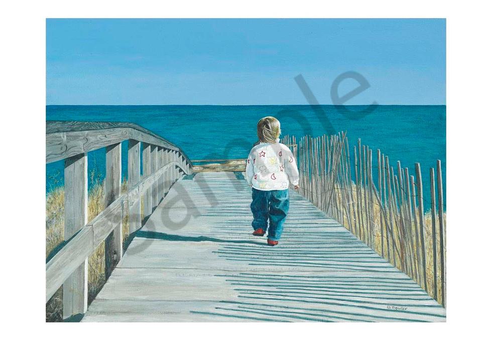 Lauren On Sandwich Boardwalk Art   Jetart Company