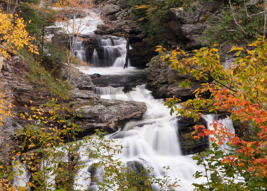 Waterfall Wall Art: Cullasaja Color