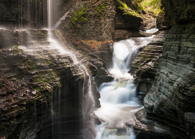 Waterfall Wall Art: Mysterious Gorge